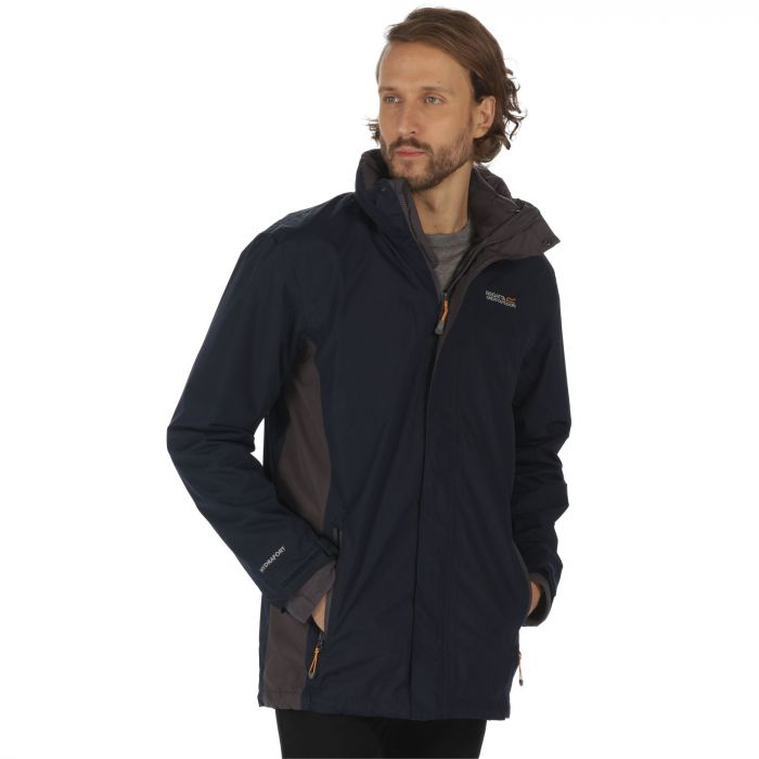 Regatta Telmar Waterproof 3-in-1 Jacket Navy Iron