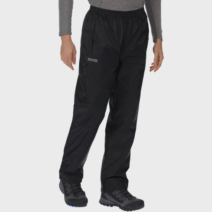 Regatta Men's Pack It Breathable Waterproof Overtrousers Black