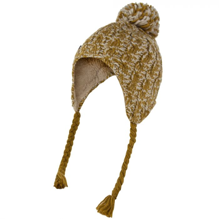 f47f044863b Home · Regatta Women s Whirlwind Cable Knit Trapper Hat Gold Cumin.  RWC070 05S 1