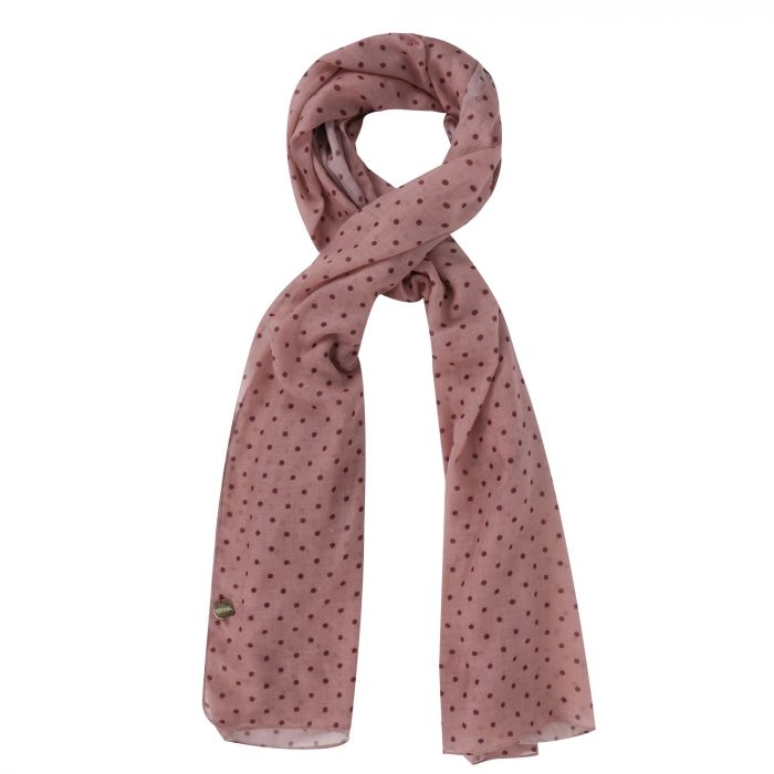 Regatta Sancia Printed Scarf Mellow Rose Polka Dot