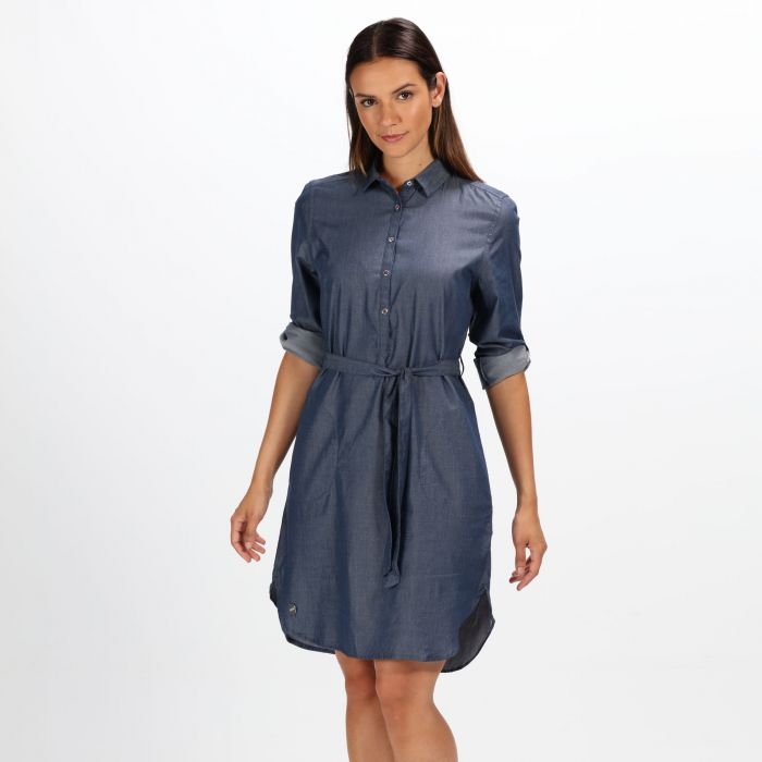 Regatta Women's Danika Tie Belt Dress Dark Chambray