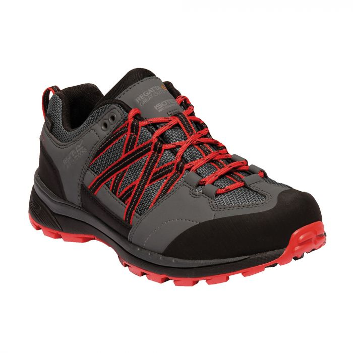 Regatta Women's Samaris II Low Hiking Shoes Dark Steel Red Alert
