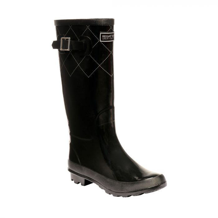 Regatta Women's Fairweather II Wellingtons - Black Silver