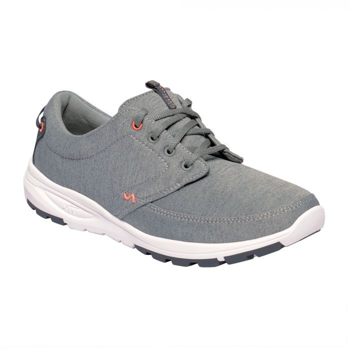 Regatta Women's Marine II Trainers Grey Marl Neon Peach