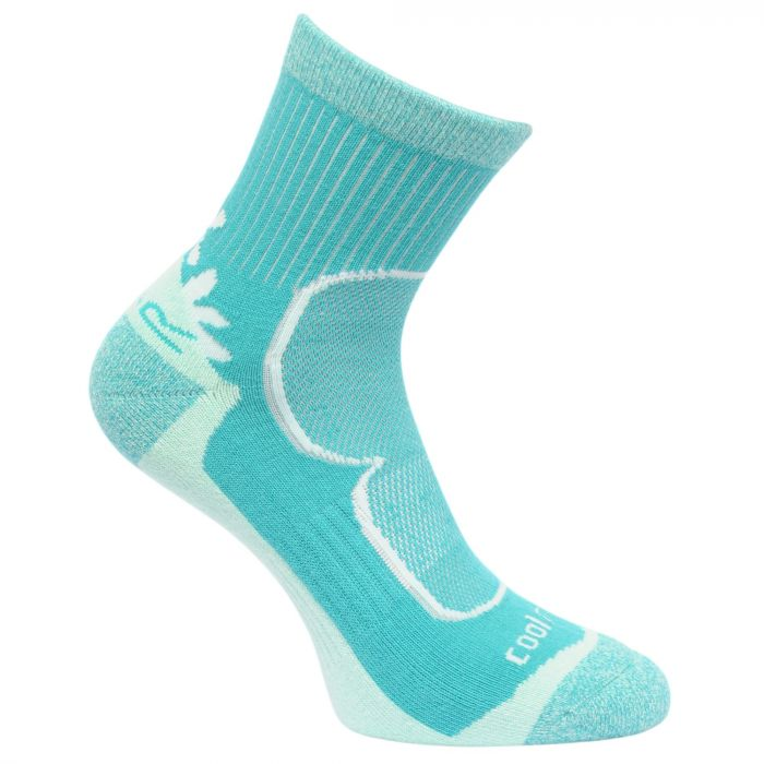 Regatta Women's 2 Pack Active Socks ToffeeCeramic
