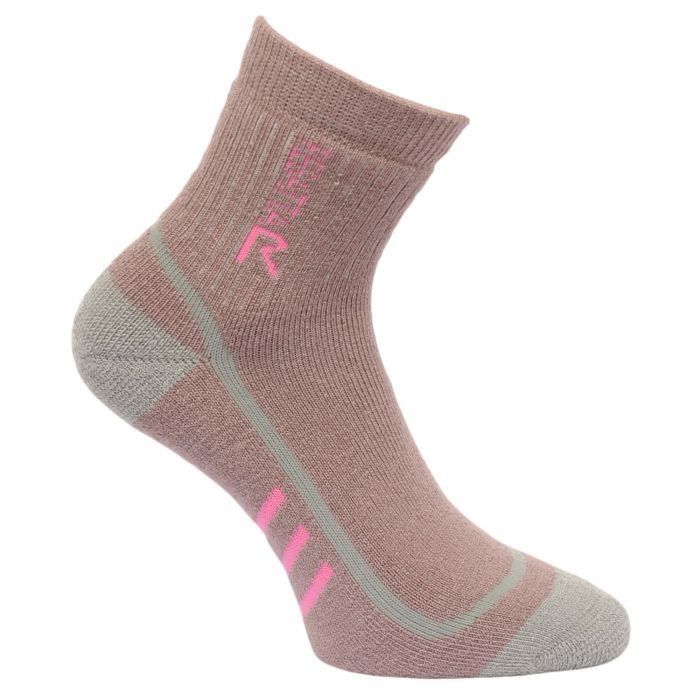 Regatta Women's 3 Season Heavyweight Trek & Trail Socks Mauve Raspberry Rose