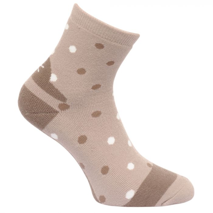 Regatta Women's 3 Pack Lifestyle Polka Dot Socks BarleyBlackPlum Wine