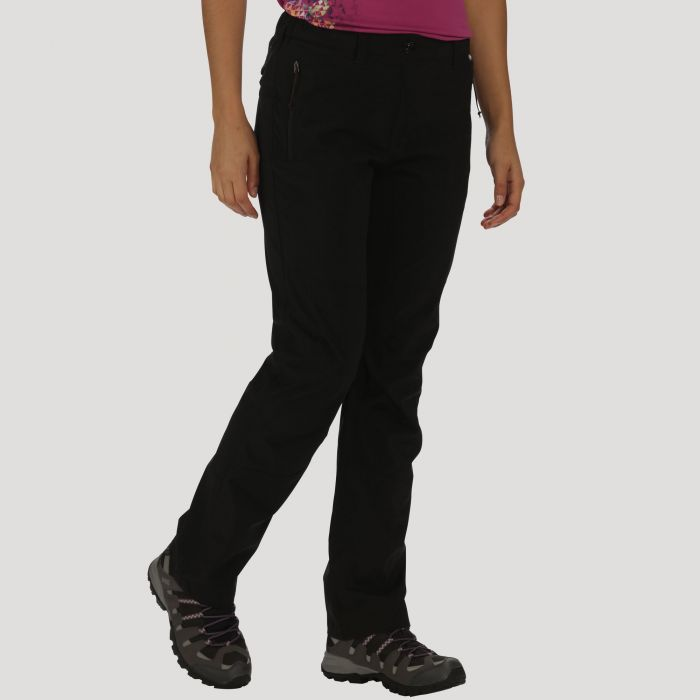 Regatta Women's Dayhike III Breathable Waterproof Stretch Trousers Black