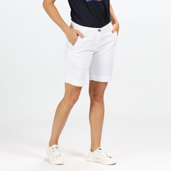 Women's Solita Casual Shorts White