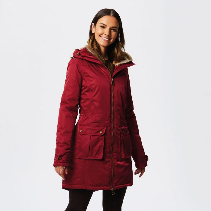 Regatta Lucasta Waterproof Insulated Jacket Rumba Red