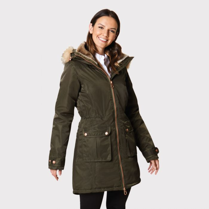 Regatta Lucasta Waterproof Insulated Jacket Dark Khaki