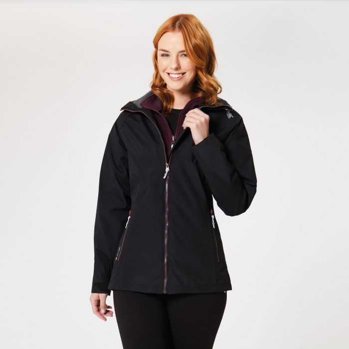 Regatta Premilla II Waterproof 3 in 1 Jacket Black Fig