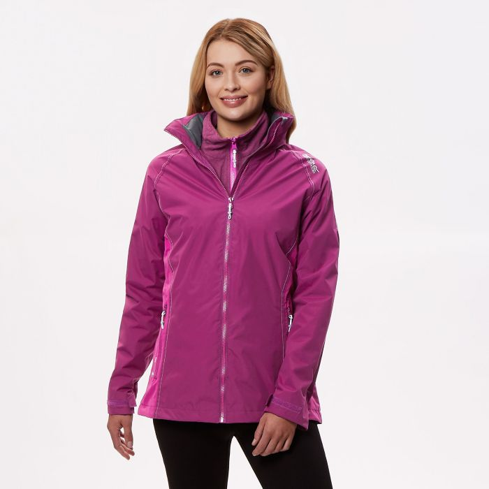 Regatta Premilla II Waterproof 3 in 1 Jacket Winberry Vivid Viola