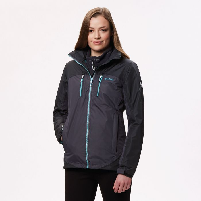 Regatta Women's Calderdale II Waterproof Shell Jacket Iron Black