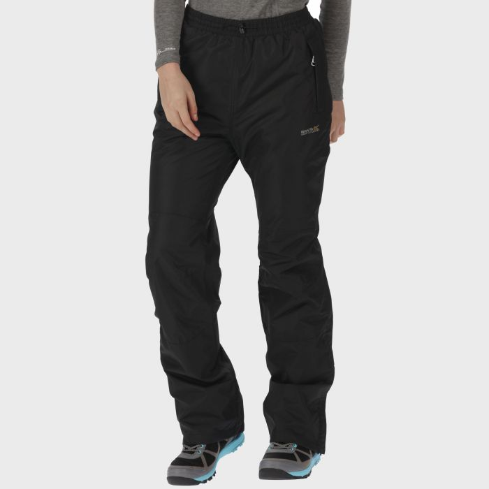 Regatta Amelie III Breathable Waterproof Overtrousers Black