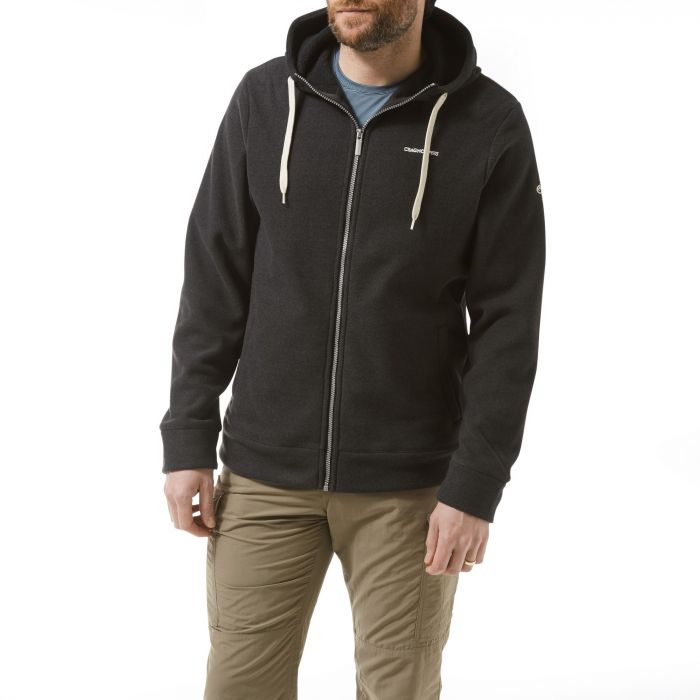 Craghoppers Sander Hooded Jacket Black Pepper Marl