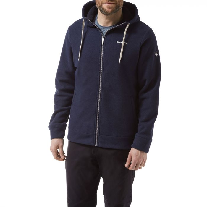 Craghoppers Sander Hooded Jacket Blue Navy Marl