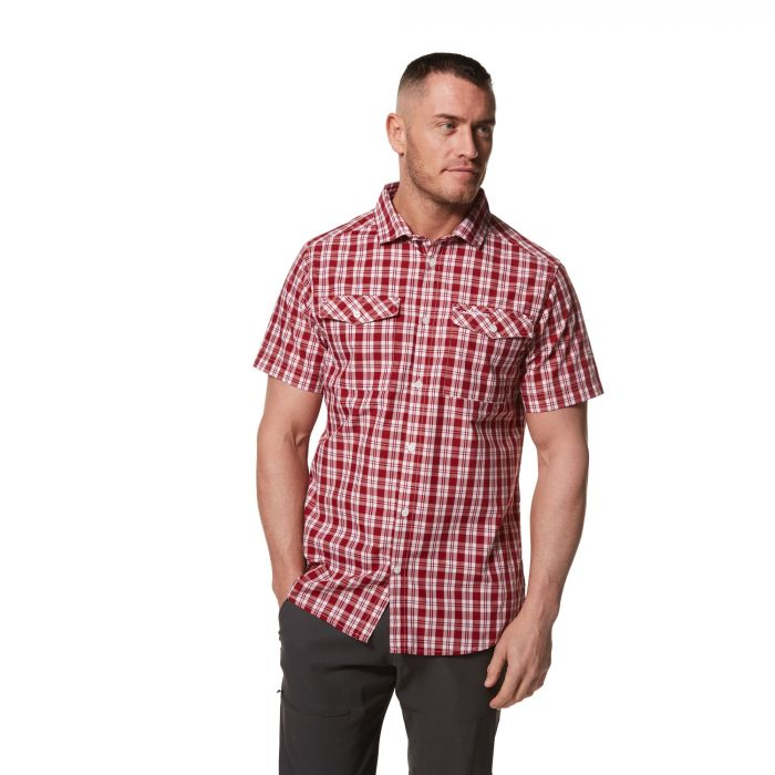 Craghoppers Pagolo Short-Sleeved Shirt - Firth Red Check