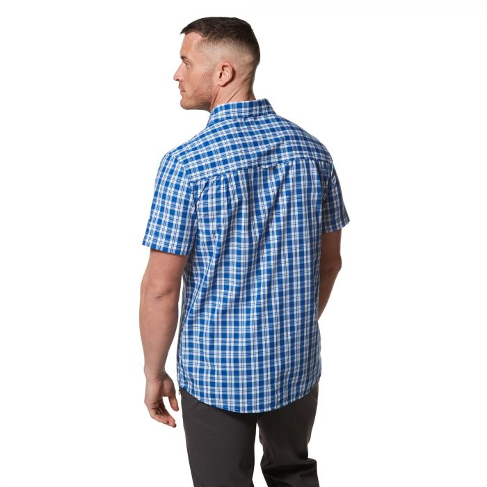 Craghoppers Pagolo Short-Sleeved Shirt - Deep Blue Check