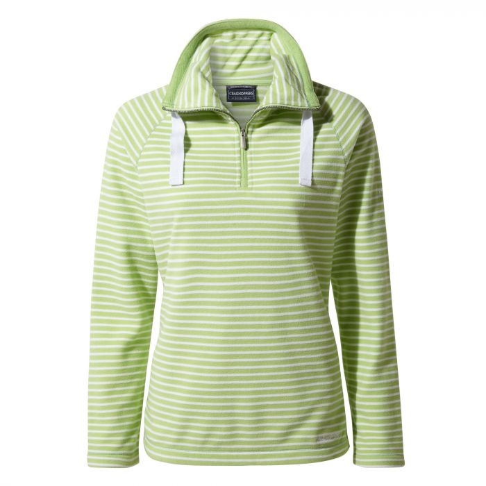 Craghoppers Rhonda Half-Zip Fleece - Green Apple Stripe