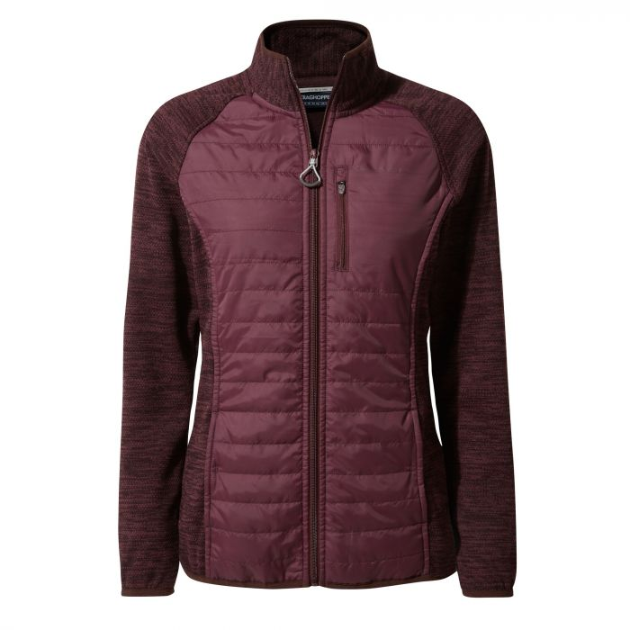 Craghoppers Lumeah Hybrid Jacket Dark Rioja Red