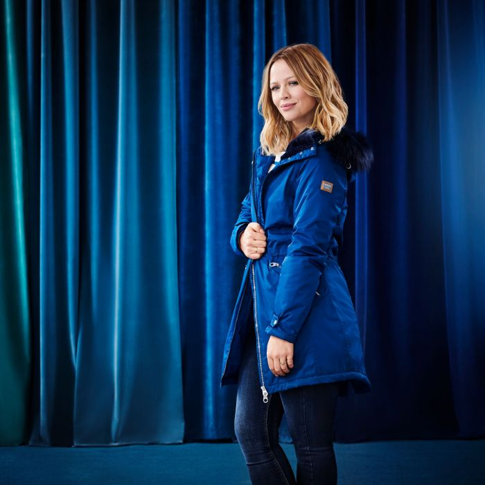 Regatta Lexia Long Length Waterproof Insulated Jacket - Blue Opal