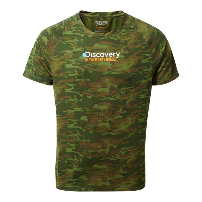 Craghoppers Discovery Adventures Short-Sleeved Tee Dark Moss Combo