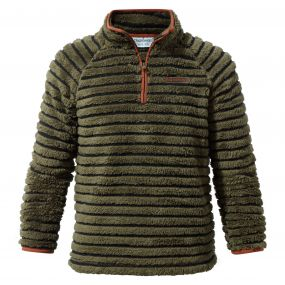 Craghoppers Appleby Half-Zip Fleece Dark Moss Combo