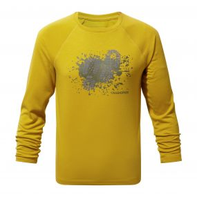 Craghoppers Mimir Long-Sleeved Graphic Tee Desert Yellow