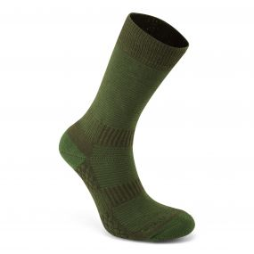 Craghoppers Heat Regulating Travel Sock Lime Khaki