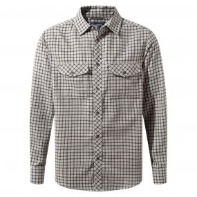 Craghoppers Kiwi Long-Sleeved Check Shirt Espresso Brown Combo