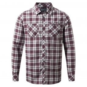 Craghoppers Andreas Long-Sleeved Check Shirt Red Wine Combo