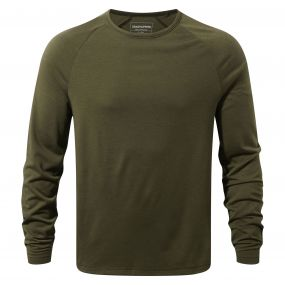 Loki Long-Sleeved T-Shirt Dark Moss