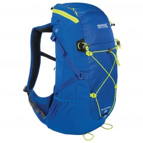 Blackfell II 25 Litre Backpack with Hydration Storage Pocket Oxford Blue Lime Zest