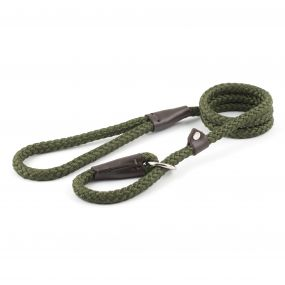 Ancol Rope Slip Lead Green