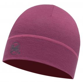 Buffera Merino Wool 1 Layer Hat Pomegranate