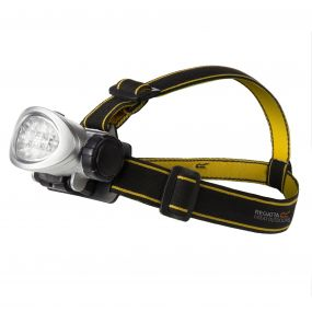 Regatta 10 LED Head Torch Black Seal Grey