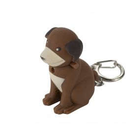 Regatta Keyring Animal Torch Dog Brown