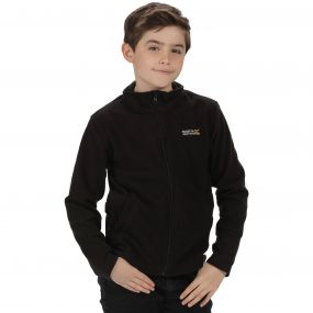 Regatta Kids King II Lightweight Full Zip Fleece Black