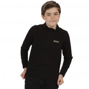 Kids Hot Shot II Half Zip Lightweight Fleece Black