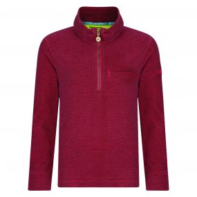 Regatta Kids Oaklands Lightweight Half Zip Mini Stripe Fleece Bright Blush