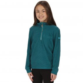 Regatta Kids Oaklands Lightweight Half Zip Mini Stripe Fleece Enamel