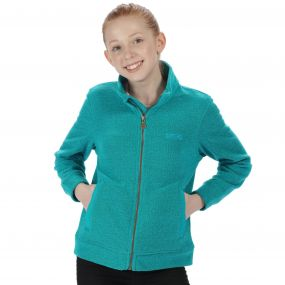 Regatta Kids Matterdale Full Zip Honeycomb Fleece Aqua