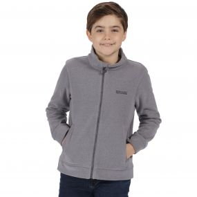 Regatta Kids Matterdale Full Zip Honeycomb Fleece Rock Grey