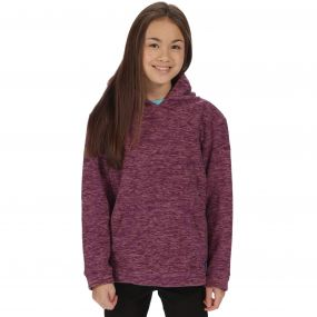 Regatta Kids Khrissa Mid Weight Overhead Hooded Fleece Winberry Ash Rose