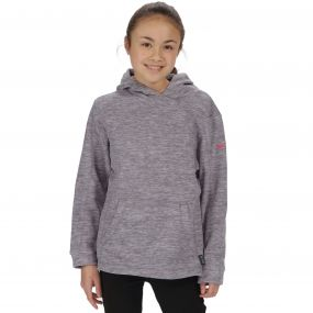 Regatta Kids Khrissa Mid Weight Overhead Hooded Fleece Rock Grey Light Steel