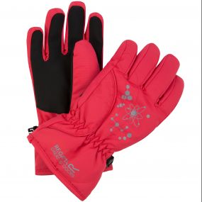 Regatta Kids Arlie II Reflective Waterproof Gloves Bright Blush