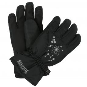 Regatta Kids Arlie II Reflective Waterproof Gloves Black