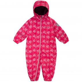 Kids Printed Splat Breathable Waterproof Puddle Suit Bright Blush Fox Print