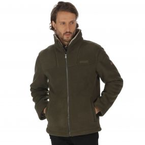Regatta Grove Heavyweight Sherpa Backed Full Zip Fleece Dark Khaki